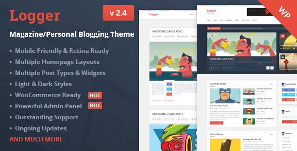 Logger – Magazine/Personal Blogging Theme