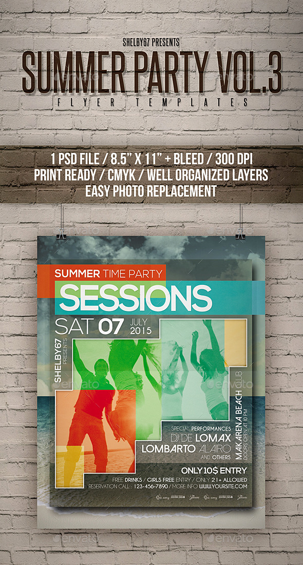 Summer Party Flyer / Poster Vol 3 - Events Flyers