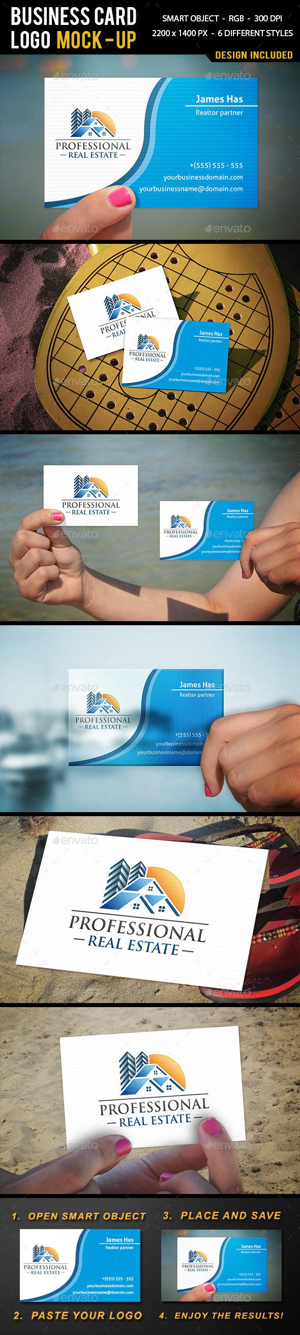 Summer Business Card Mock Up - Business Cards Print