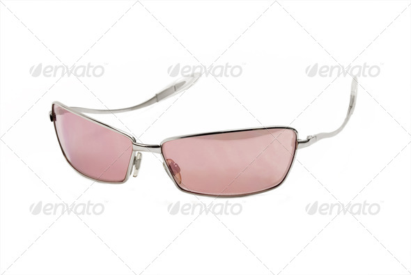 modern pink sunglasses - Stock Photo - Images