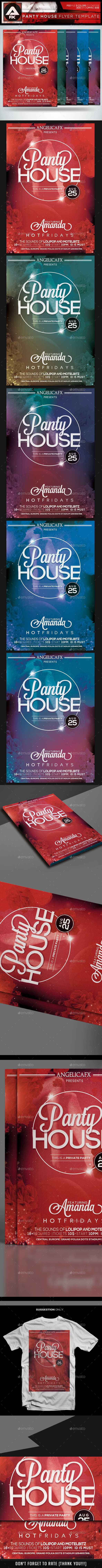 Panty House Flyer Template - Events Flyers