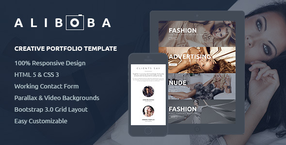 Aliboba | One Page Creative Portfolio Template - Portfolio Creative
