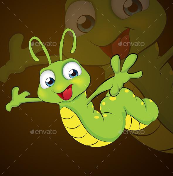 Caterpillar Mascot  - Animals Characters