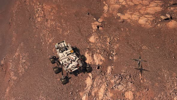 Mars Perseverance Rover and Ingenuity Helicopter Explore ...