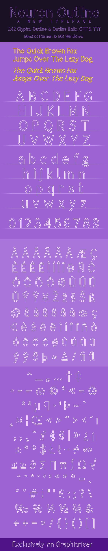 Neuron Outline - Sans-Serif Fonts