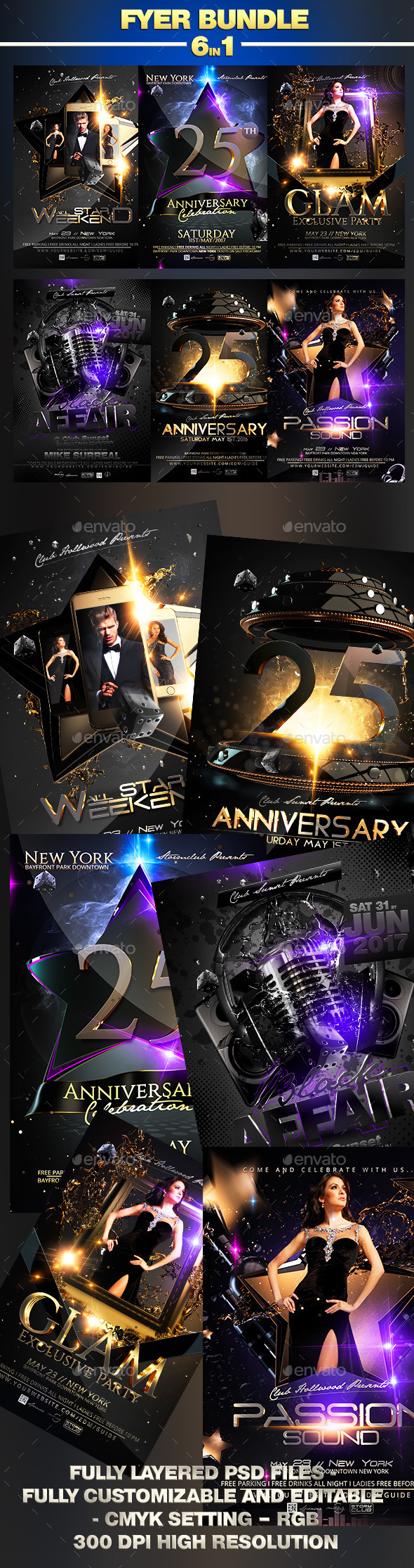 Luxury Flyer Bundle - Events Flyers