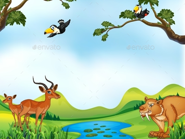 Animals and Pond - Animals Characters