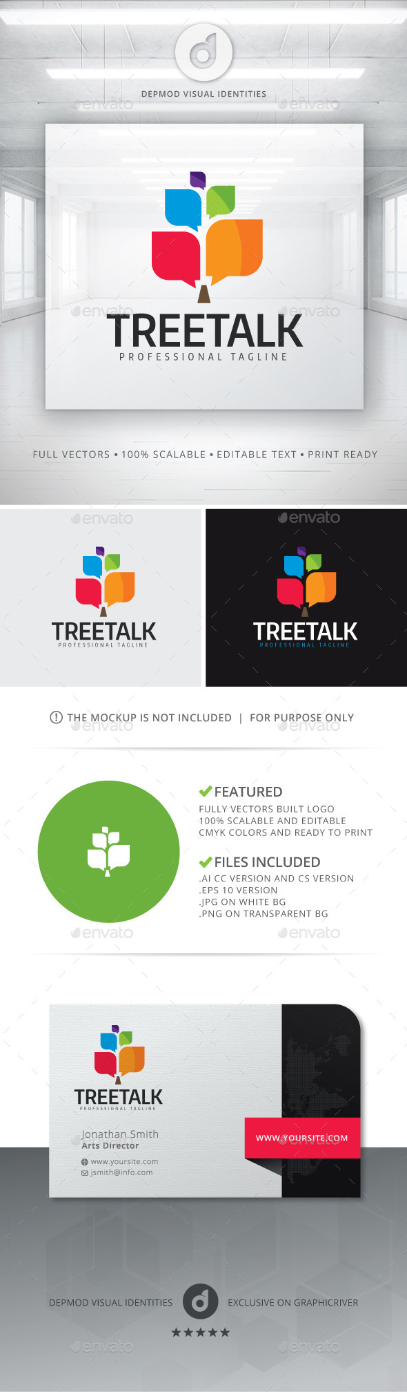 Tree Talk Logo - Symbols Logo Templates