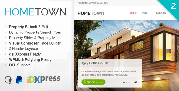 Hometown – Real Estate WordPress Theme