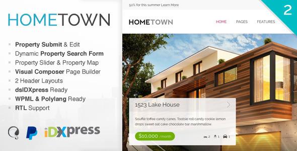 Hometown - Real Estate WordPress Theme