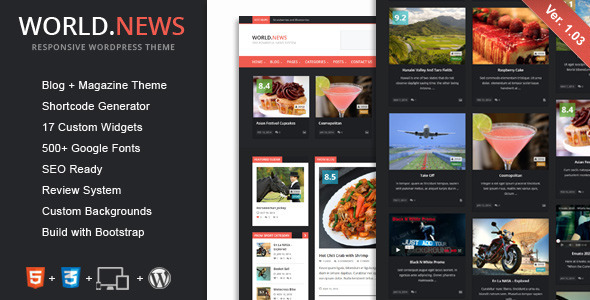 WorldNews – Responsive WordPress Blog/Magazine