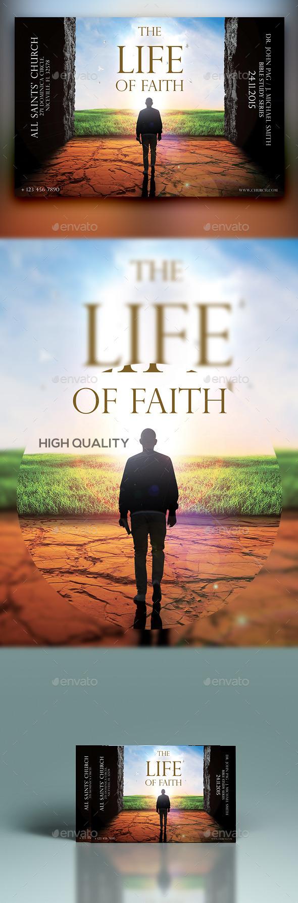 The Life Of Faith - Church Flyers