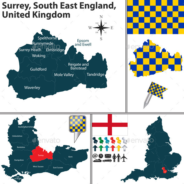 Surrey, South East England, UK - Travel Conceptual