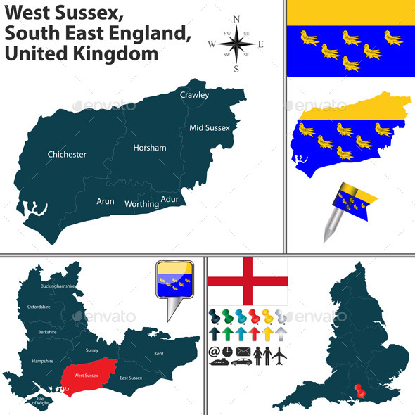 West Sussex, South East England, UK - Travel Conceptual