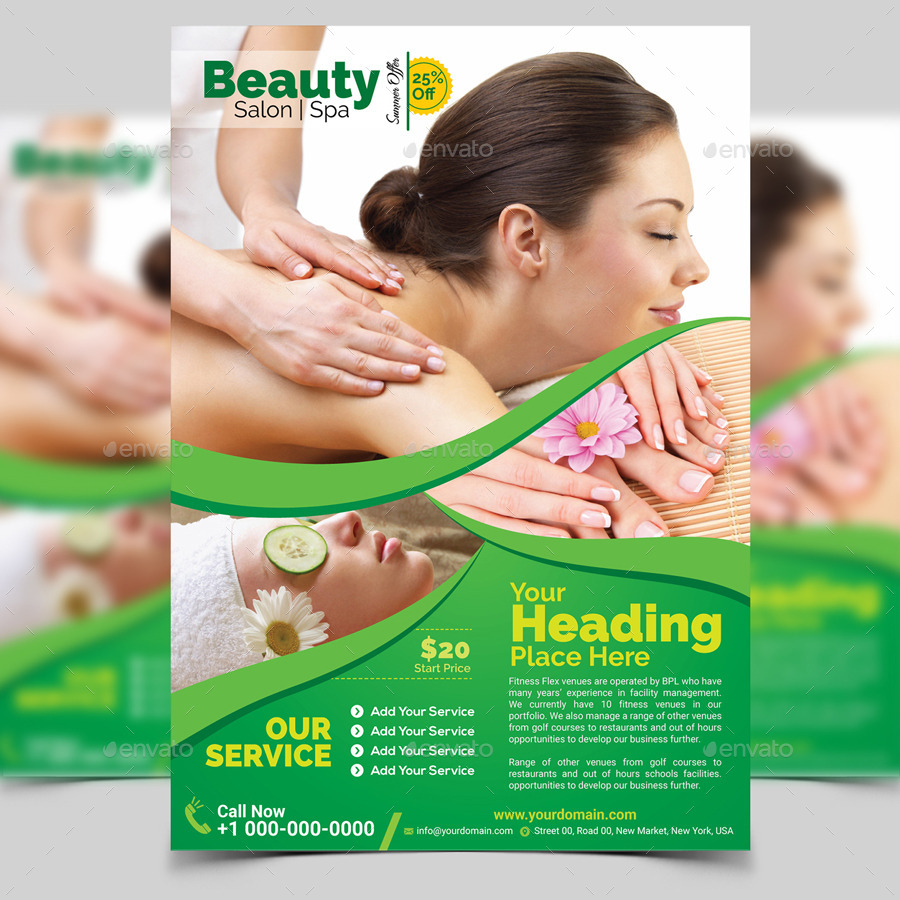 spa beauty flyer template by aam360 graphicriver