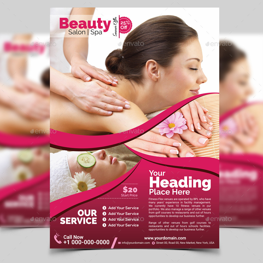 Spa & Beauty Flyer Template by aam360 | GraphicRiver