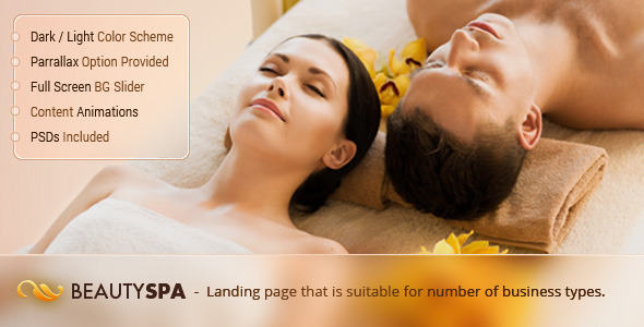 Spa – Landing WordPress Theme