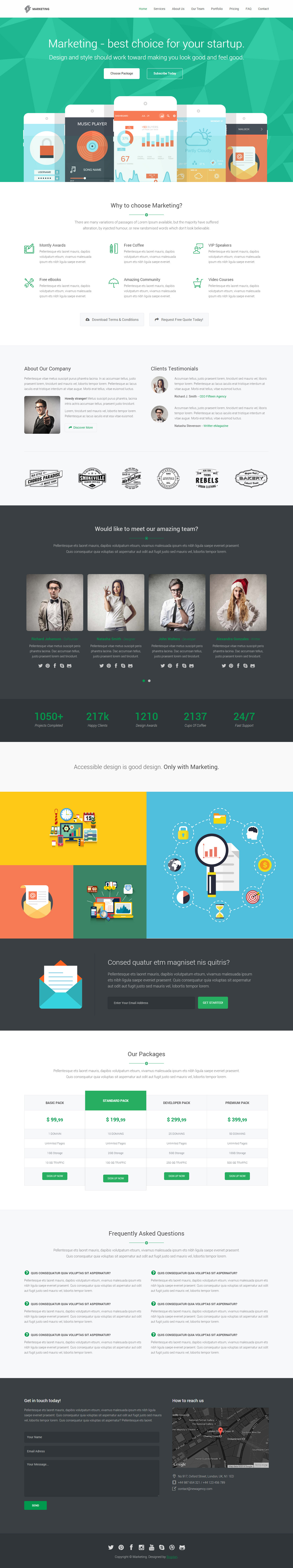 Marketing Startup Landing Page Template By Epic Themes Themeforest