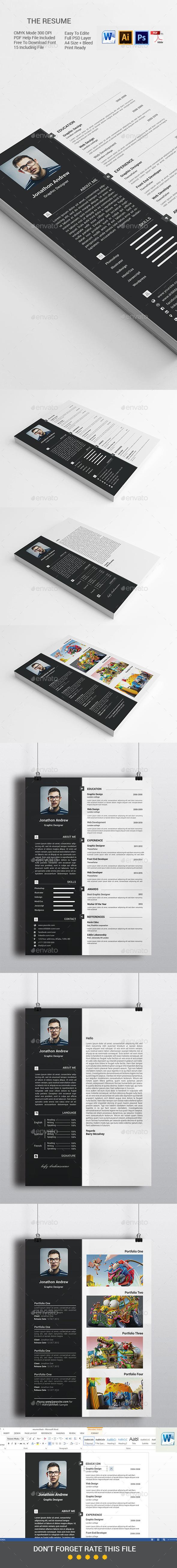 The Resume/cv - Resumes Stationery