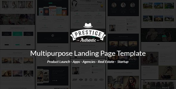 Prestige - Responsive Multi-Purpose Landing Page - Marketing Corporate