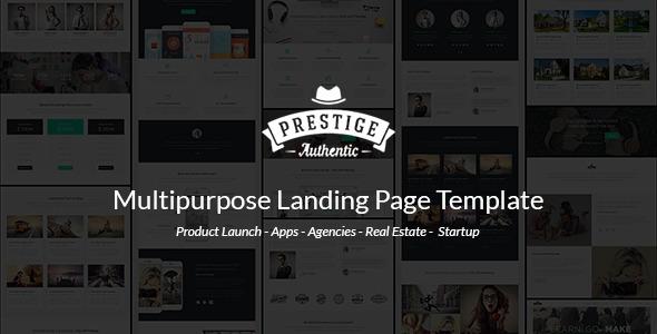 Prestige - Responsive Multi-Purpose Landing Page by Epic-Themes ...
