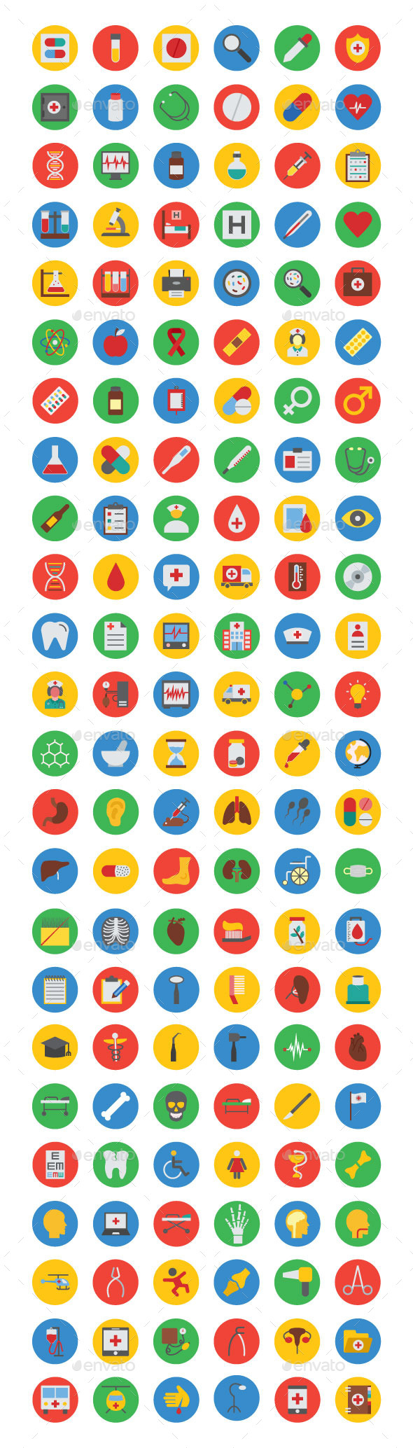 125+ Medical Vector Icons - Icons