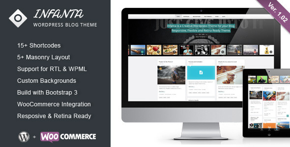 Infanta – Responsive Creative WordPress Theme
