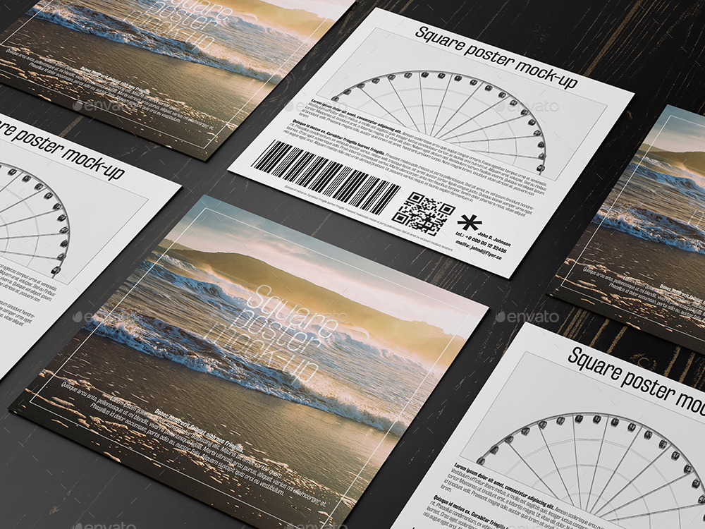 Square Flyer Mock-Up by professorinc   GraphicRiver