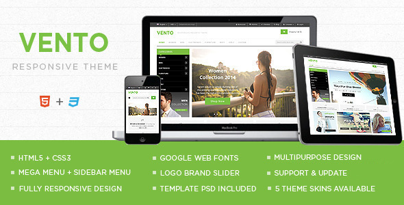Vento - Responsive E-commerce HTML5 Template - Shopping Retail