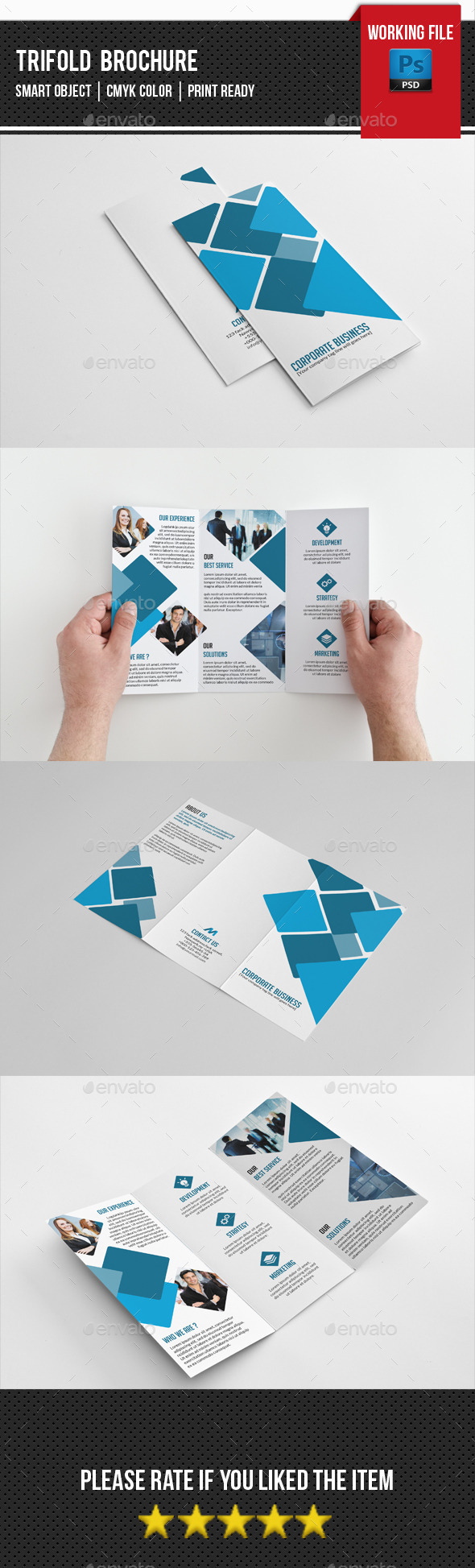 Creative Trifold Brochure-V238 - Corporate Brochures