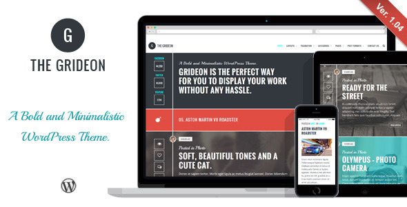 Grideon – Responsive Creative WordPress Theme