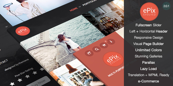 ePix – Fullscreen Photography WordPress Theme