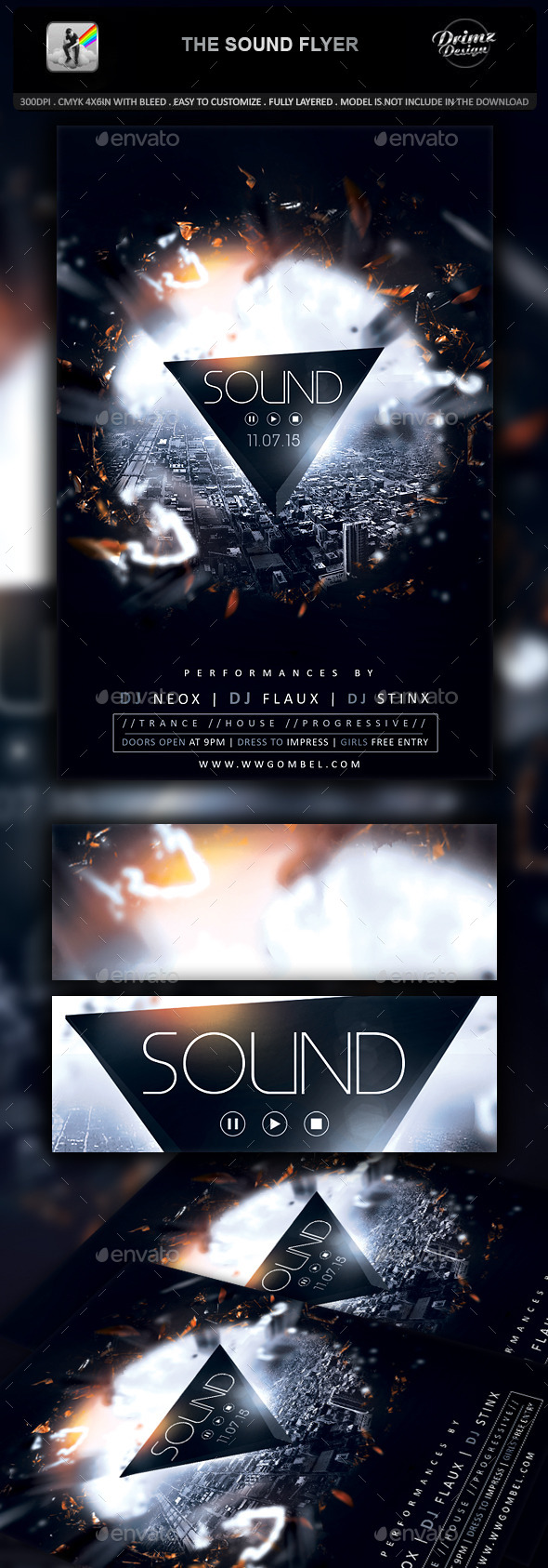 The Sound Flyer - Events Flyers