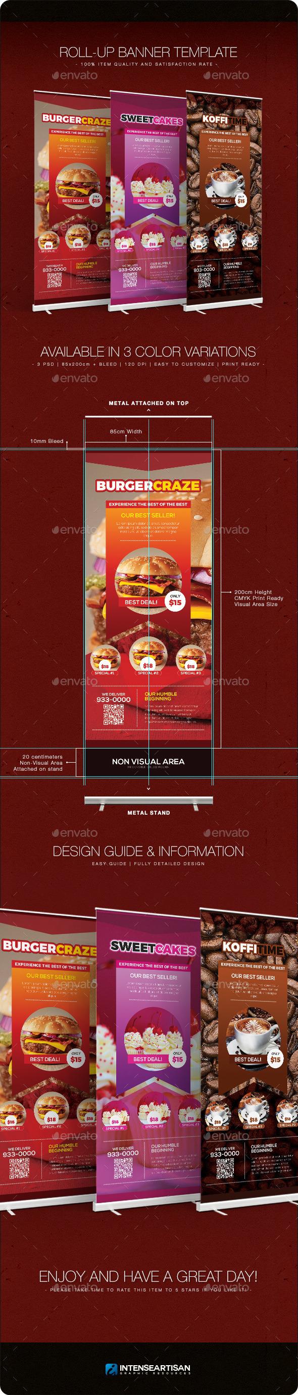 Restaurant - Banner Template - Signage Print Templates
