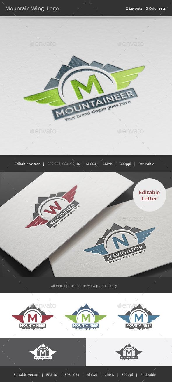 Mountain Wing Logo - Vector Abstract