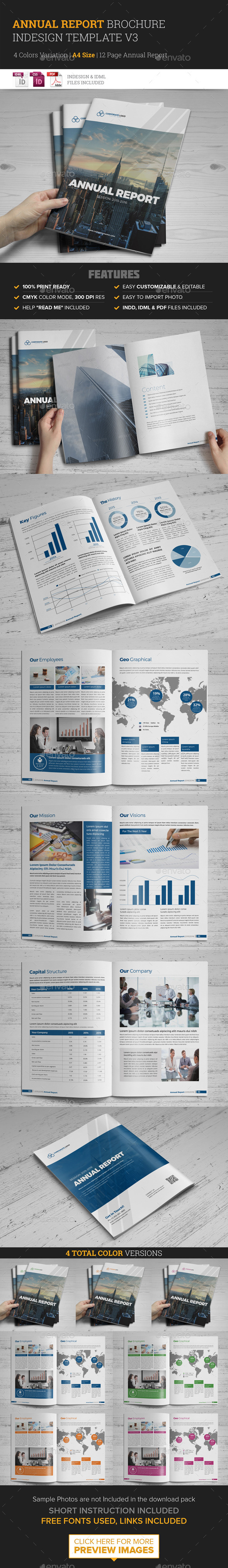 Annual Report Brochure Indesign Template 3 - Corporate Brochures