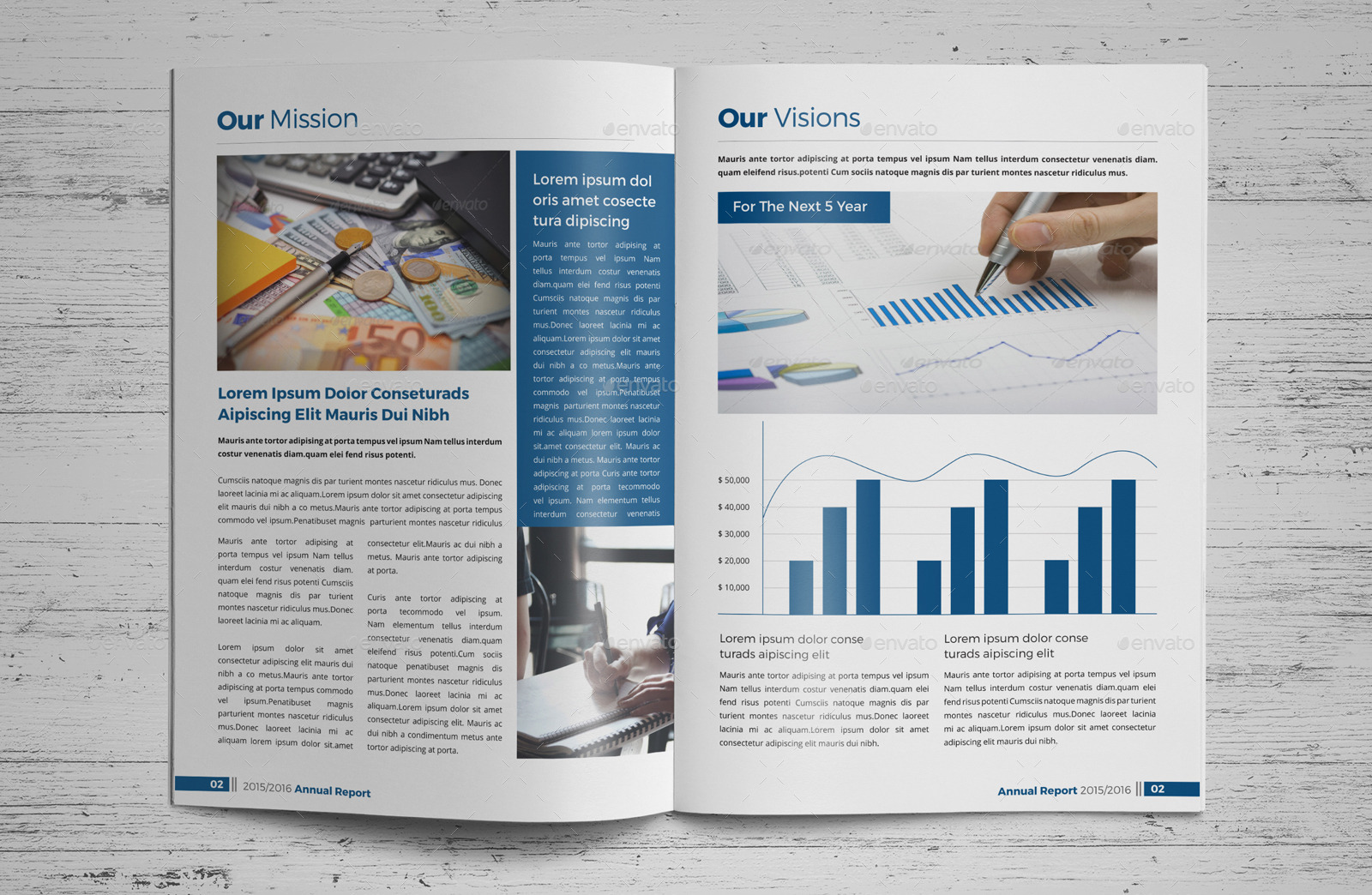 Annual Report Brochure Indesign Template 3 by JanySultana   GraphicRiver