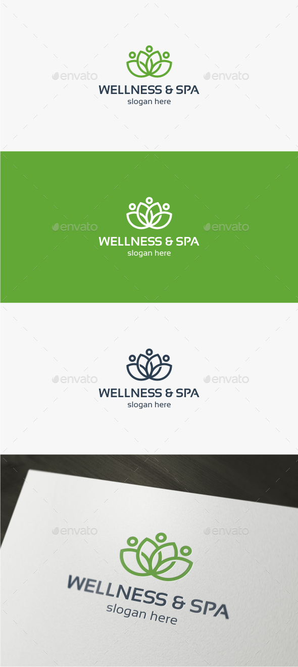 Wellness & Spa - Logo Template - Nature Logo Templates
