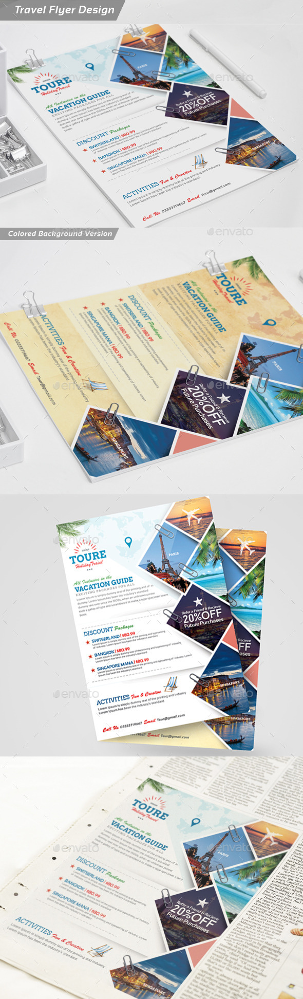 Holiday Travel and Tour Flyer - Corporate Flyers