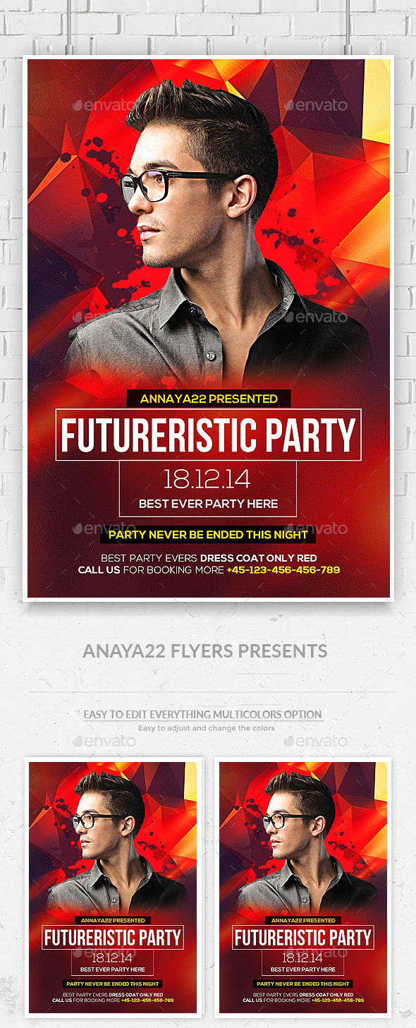 DJ Flyer Template PSD  - Clubs & Parties Events