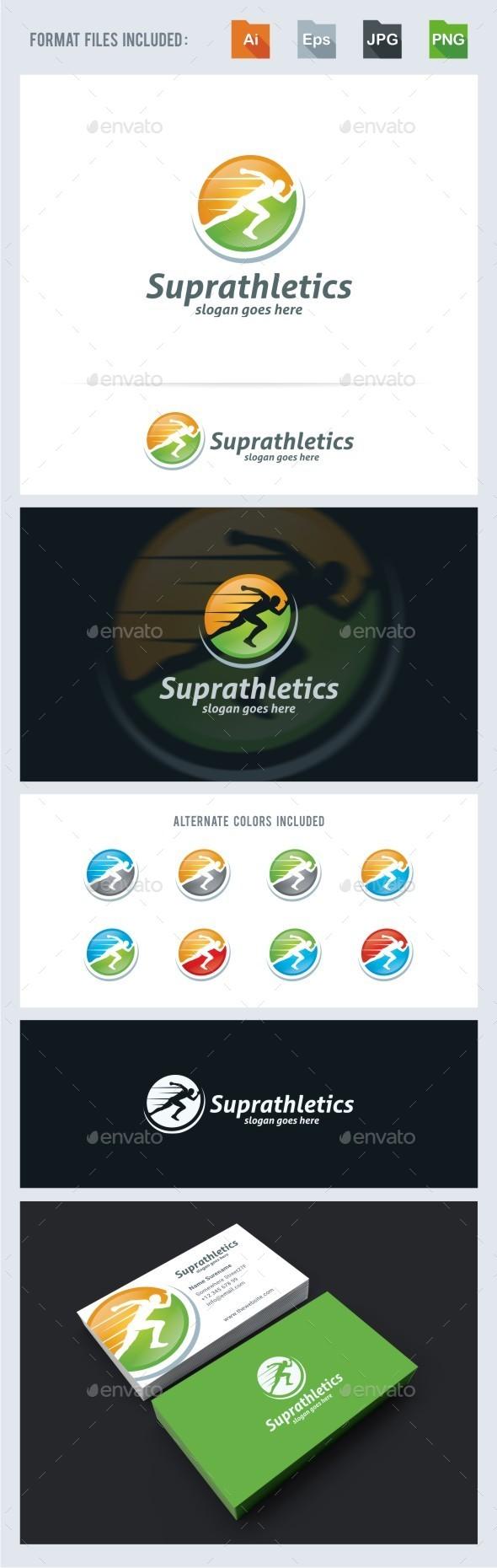 Athletics - Running Man Logo Template - Humans Logo Templates