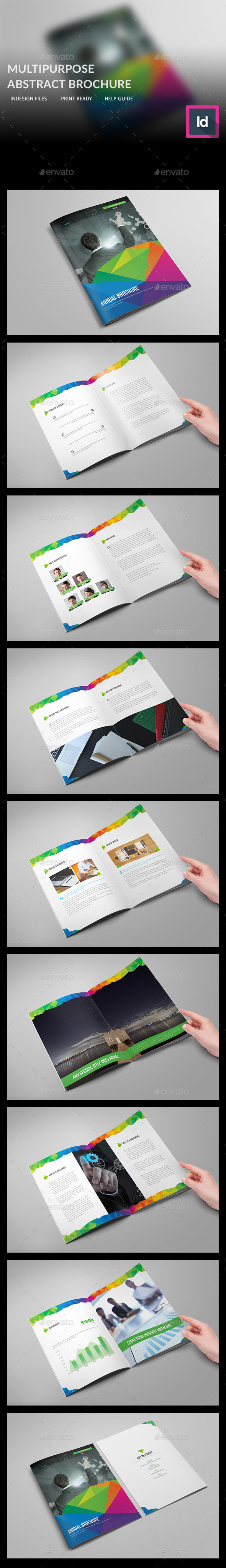 Multipurpose Abstract Brochure - Brochures Print Templates
