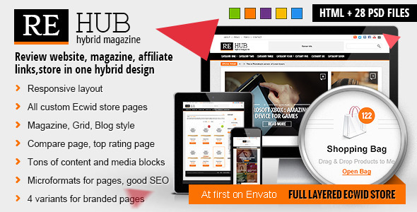 REHub – Hybrid Magazine, Shop, Review HTML Template