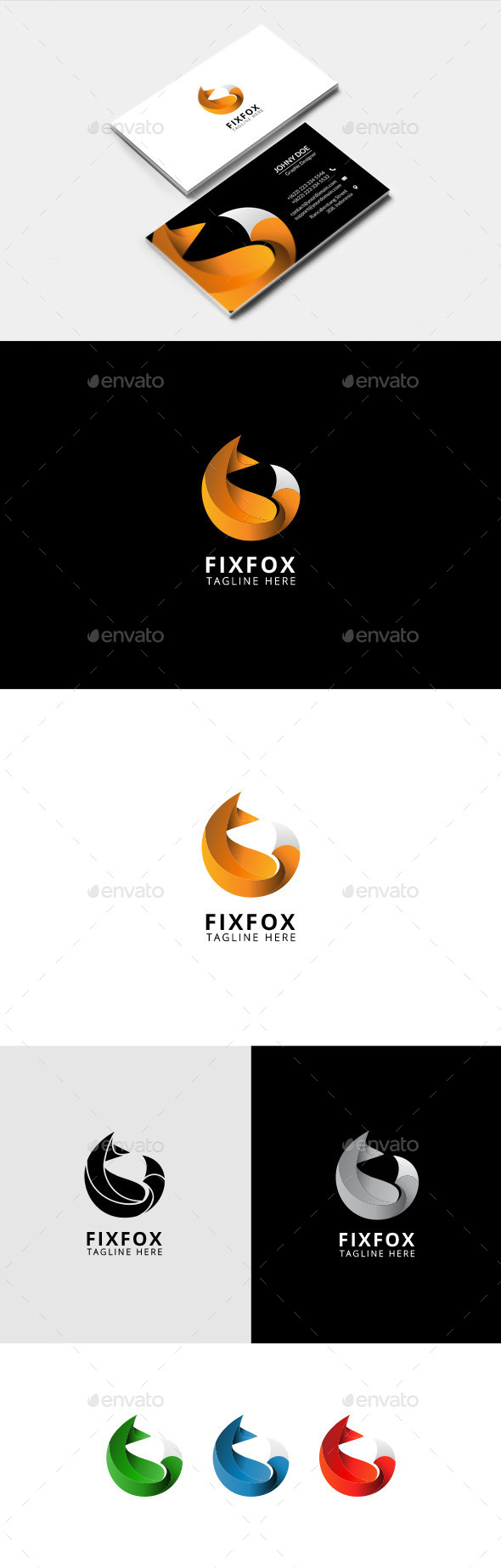 Fix Fox – Animal Logo Template - Animals Logo Templates