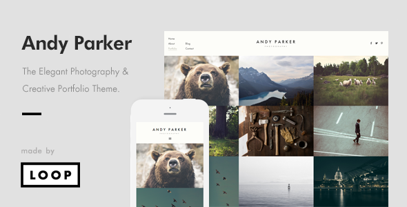 Andy Parker – Creative Photography & Portfolio WordPress Theme