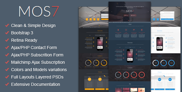 Mos7 – Responsive Bootstrap 3 App Landing Page