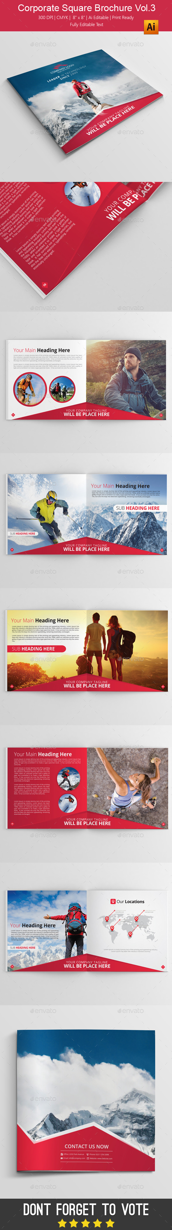 Corporate Square Brochure vol.3 - Brochures Print Templates