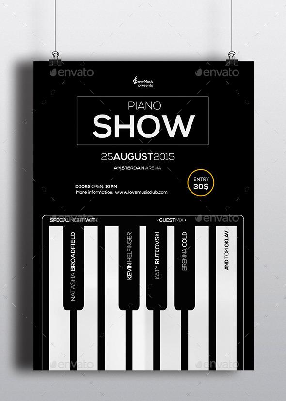 Piano Flyer Vol. 01 - Concerts Events