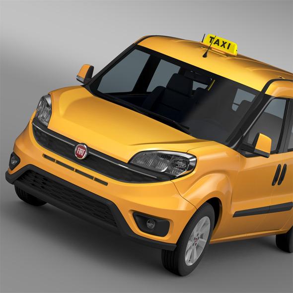 Fiat Doblo Maxi Taxi 152 2015 - 3DOcean Item for Sale
