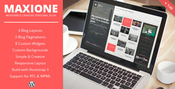 MaxiOne – Creative Personal Blog WordPress Theme